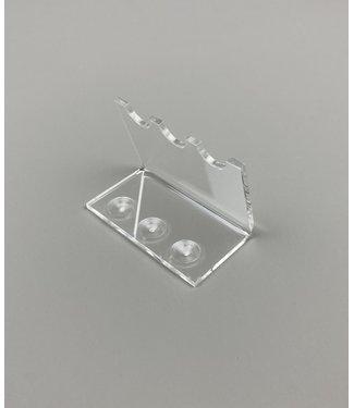 SMC Acryl Ständer Für 3 Stifte / Teelöffel / Patronenhülsen / (Klein)