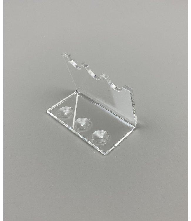 Acryl Standaard Voor 3 Pennen / Theelepels / Hulzen (Klein)
