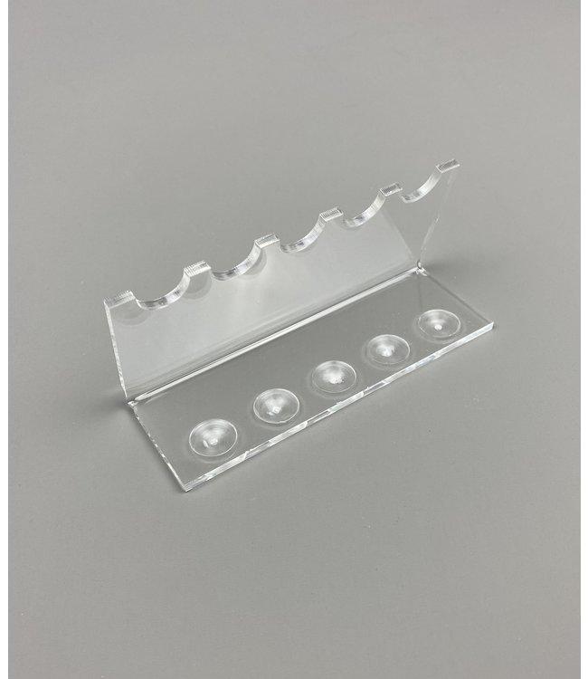 Acryl Standaard Voor 5 Pennen / Theelepels / Hulzen (Klein)