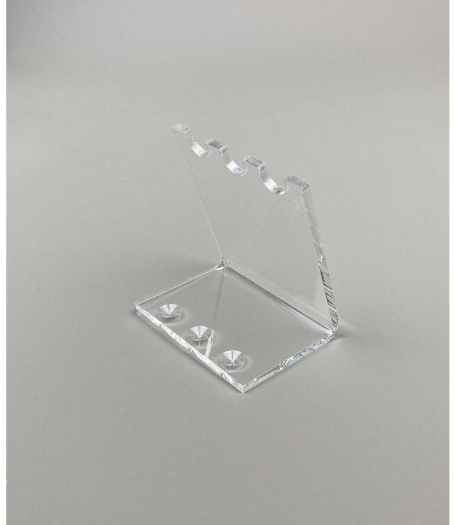 Acryl Standaard Voor 3 Pennen / Theelepels / Hulzen