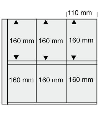 SAFE Kunststoffhüllen Maxi / 6er Einteilung / 110 mm x 160 mm