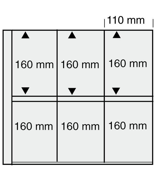 Kunststoffhüllen Maxi / 6er Einteilung / 110 mm x 160 mm