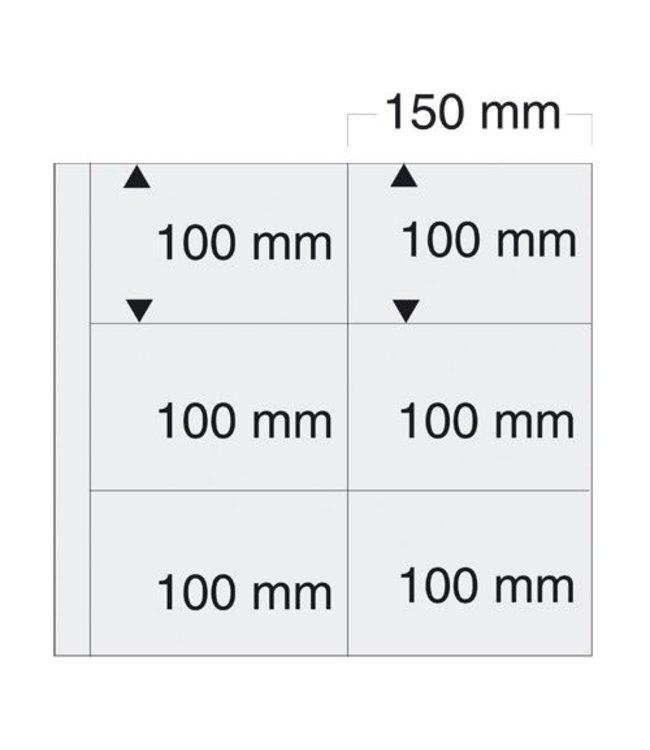 Kunststoffhüllen Maxi / 6er Einteilung / 150 mm x 100 mm