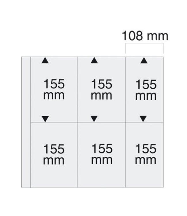 Sheets Maxi / 6 compartments / 108 mm x 155 mm