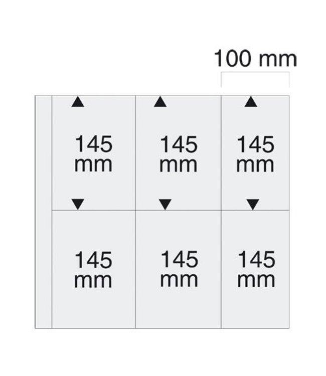 Kunststoffhüllen Maxi / 6er Einteilung / 100 mm x 145 mm