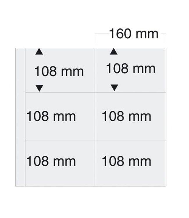 Kunststoffhüllen Maxi / 6er Einteilung / 160 mm x 108 mm