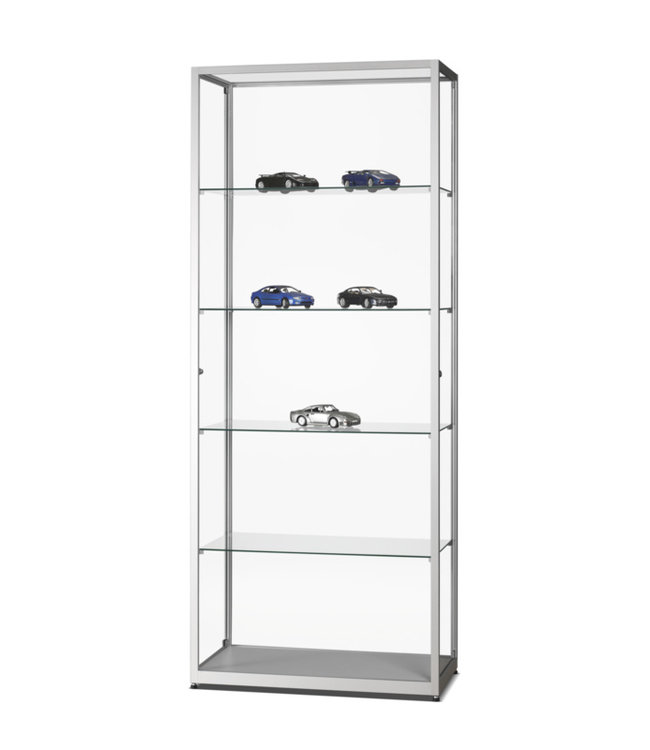 Vitrine Radboud / Silber / Seitliche Türen