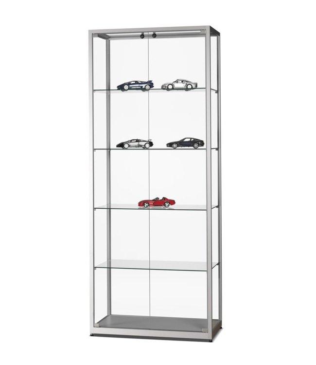 Display Cabinet Radboud / Silver / Doors Front Side