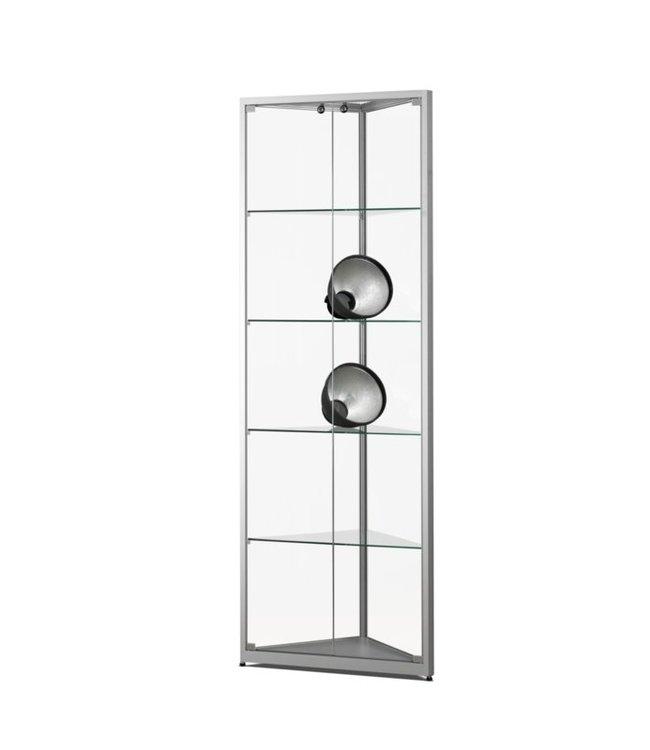 Corner Display Cabinet / Julia / Silver