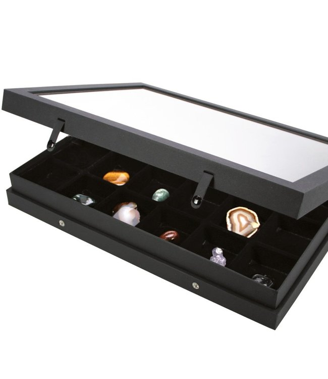 Display Case / Black Edition / 24 Compartments