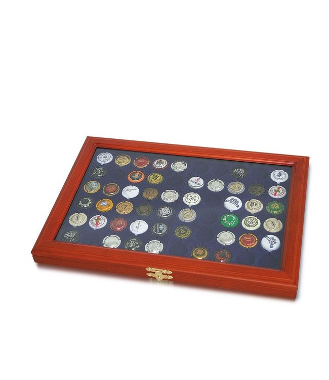 Wooden Display Case For Champagne Caps /  Bottle Caps
