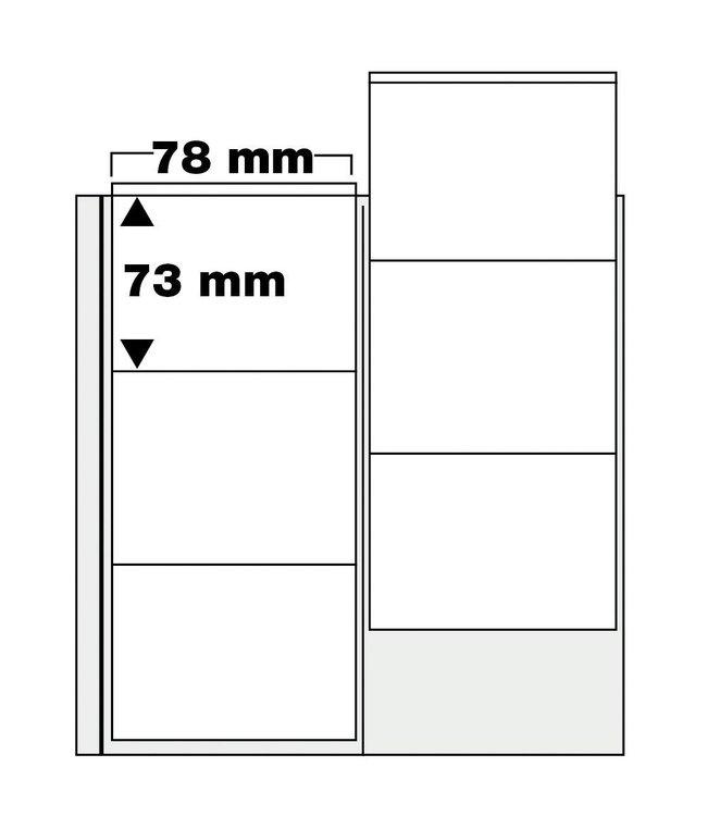 Muntbladen / Tot 70 mm / Compact Album