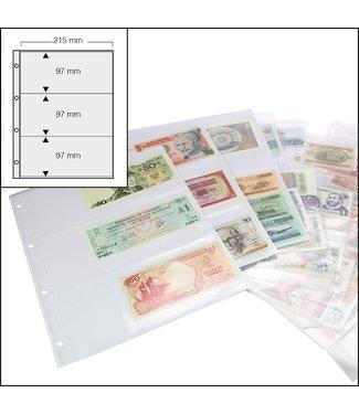 SAFE Banknoten-Ersatzblätter / 3-er Einteilung