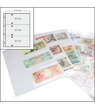 SAFE Sheets Banknotes / 3 Compartments