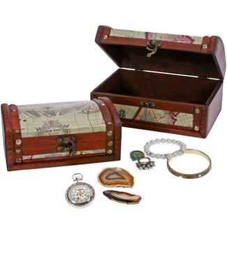 SAFE Wooden Treasure Box / Medium