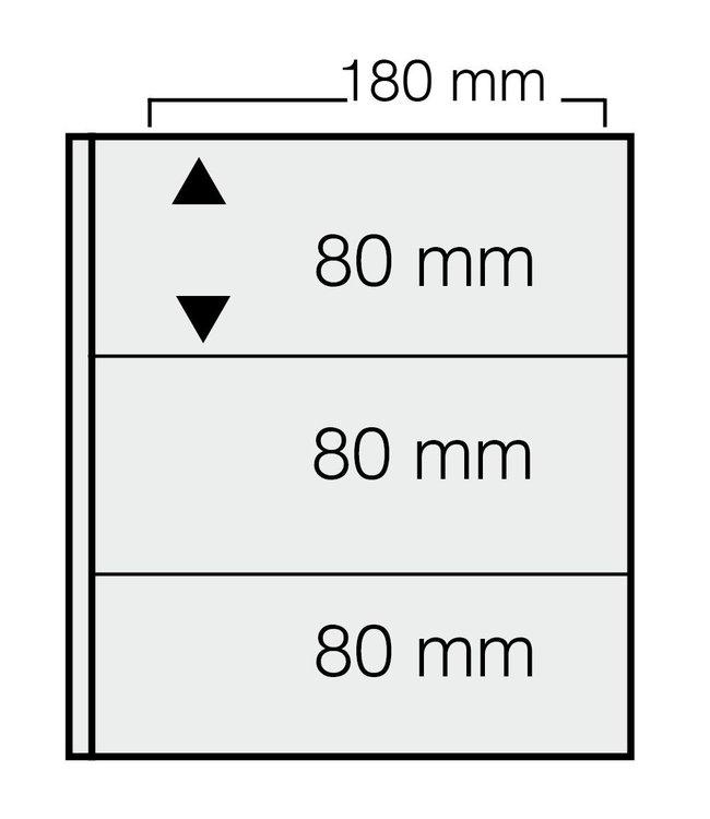 Kunststoffhüllen Für Banknoten / 3er Einteilung