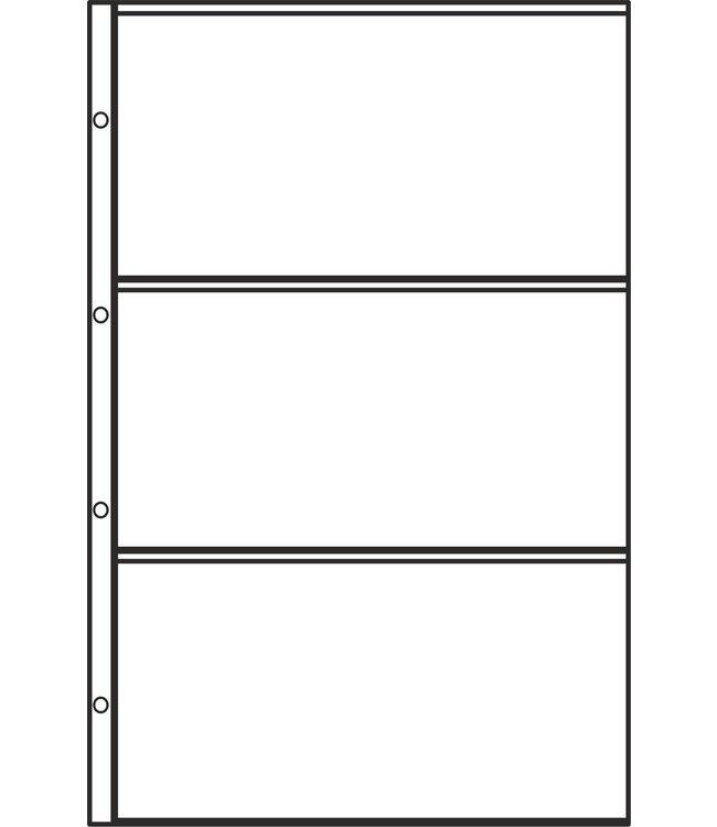 Hartberger FDC Kunststoffhüllen / 3 Fächer