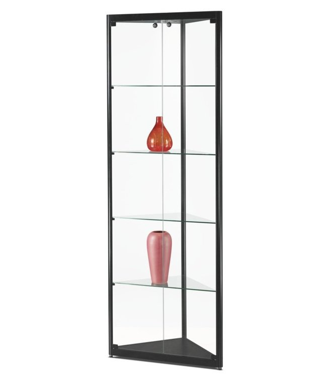 Corner Display Cabinet / Julia / Black