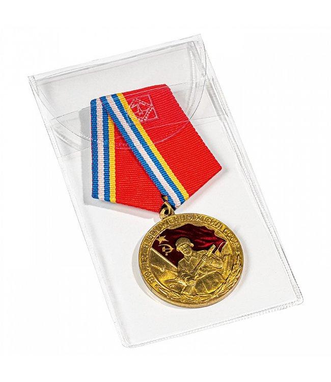 Schutztasche Für Medaillen / Orden / Ehrenzeichen / 50 mm X 100 mm