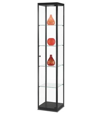 SMC Vitrinekast Marcus / Zwart / LED Plafondspot