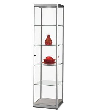 SMC Vitrinekast Floris / Zilver / LED Plafondspot
