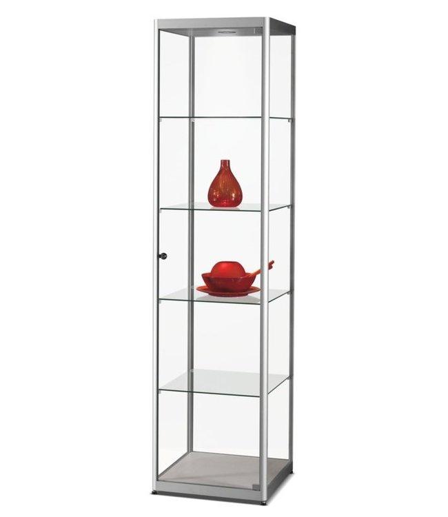 Vitrinekast Floris / Zilver / LED Plafondspot