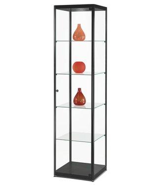 SMC Vitrinekast Floris / Zwart / LED Plafondspot