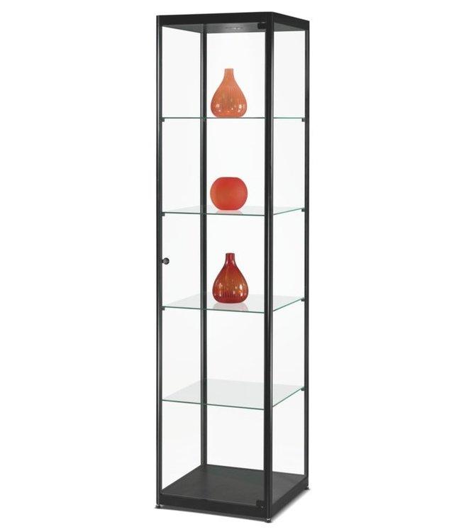 Vitrinekast Floris / Zwart / LED Plafondspot