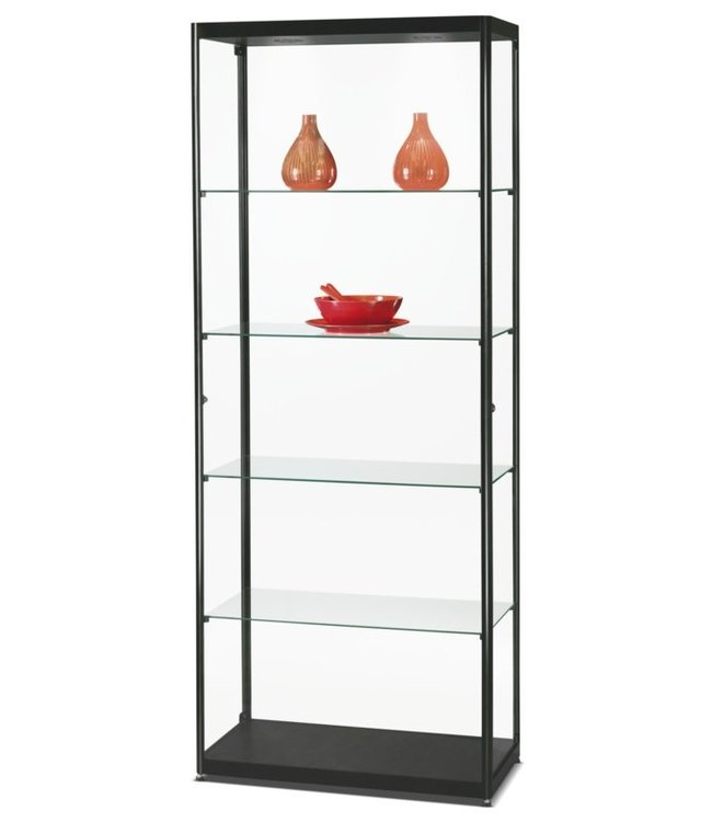 Display Cabinet Radboud / Black / Side doors / Basic LED