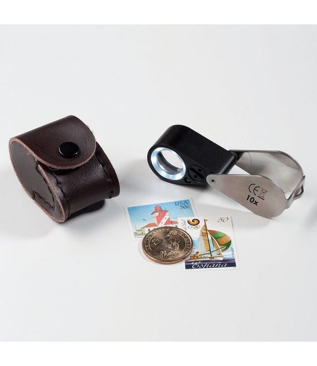 Präzisionslupe /10-FacherVergrößerung / LED Und UV Lampe