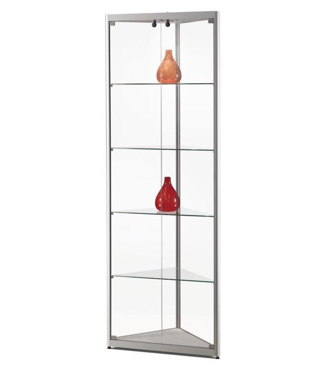 Corner Display Cabinet / Julia / Silver / LED Basic