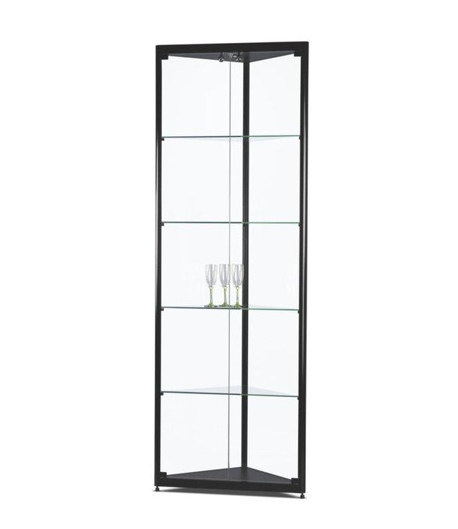 Corner Display Cabinet / Julia / Black / LED Basic