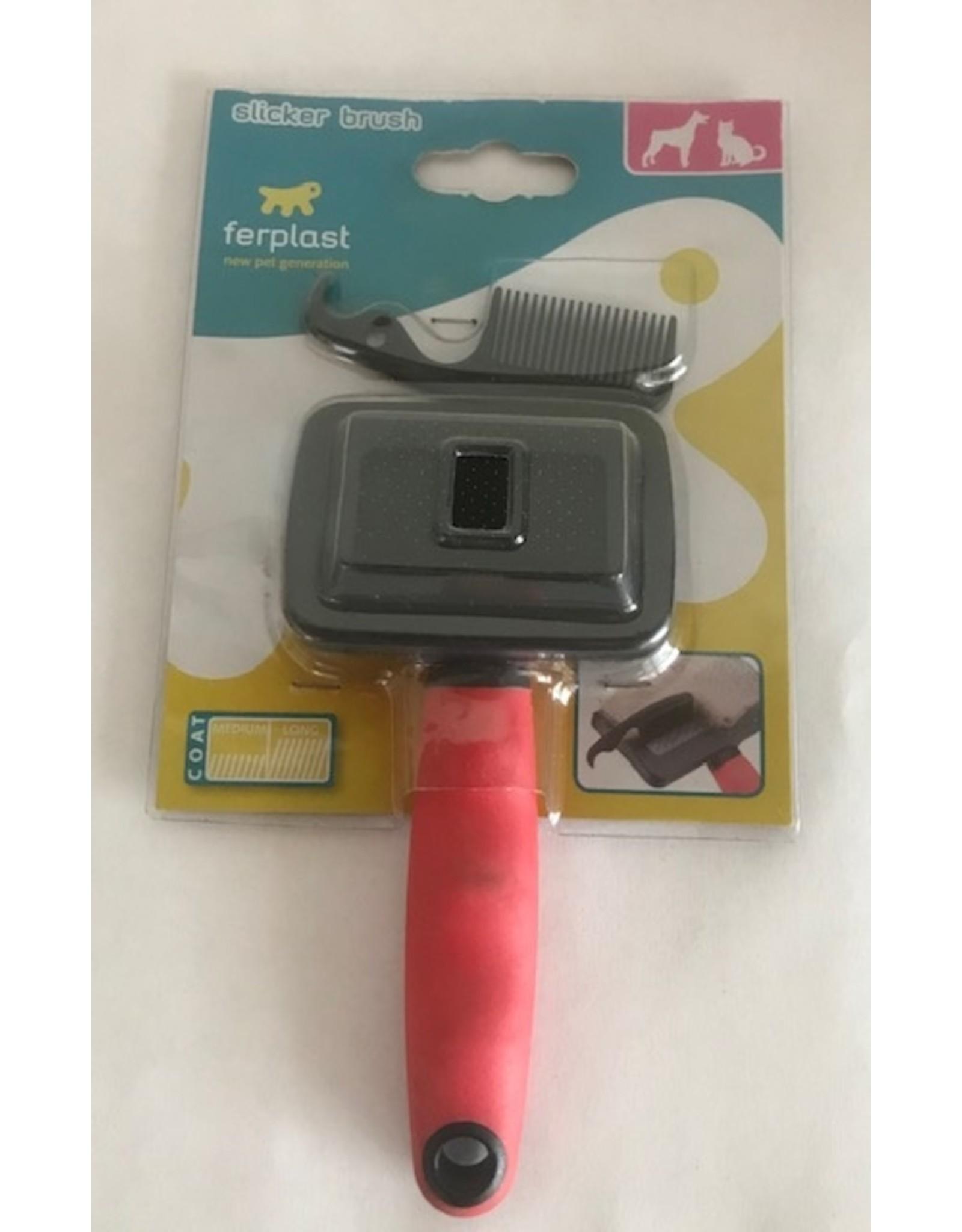 ferplast Ferplast slickerborstel voor hond en kat klein