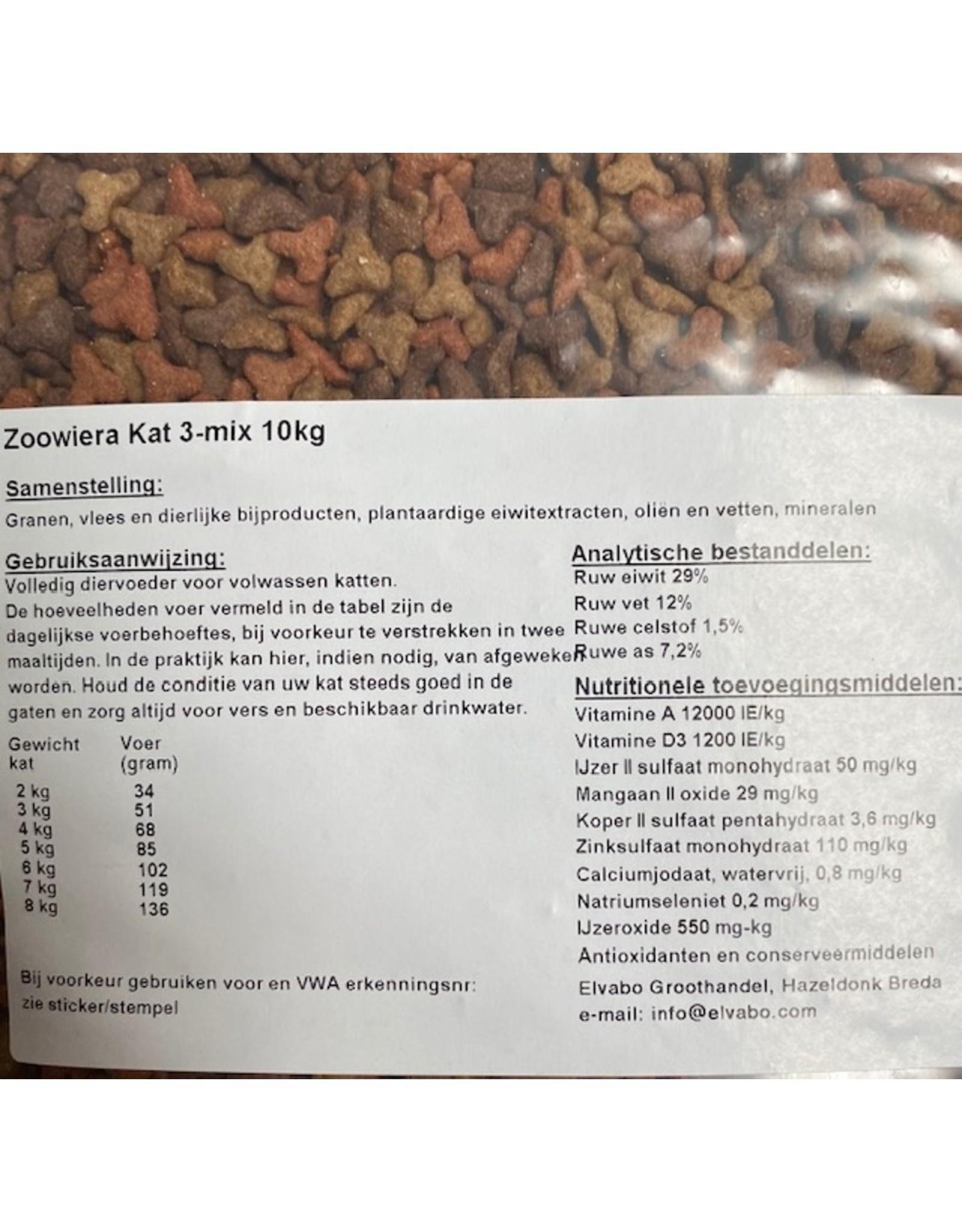 Zoowiera kat Zoowiera premium 3 mix  3kg