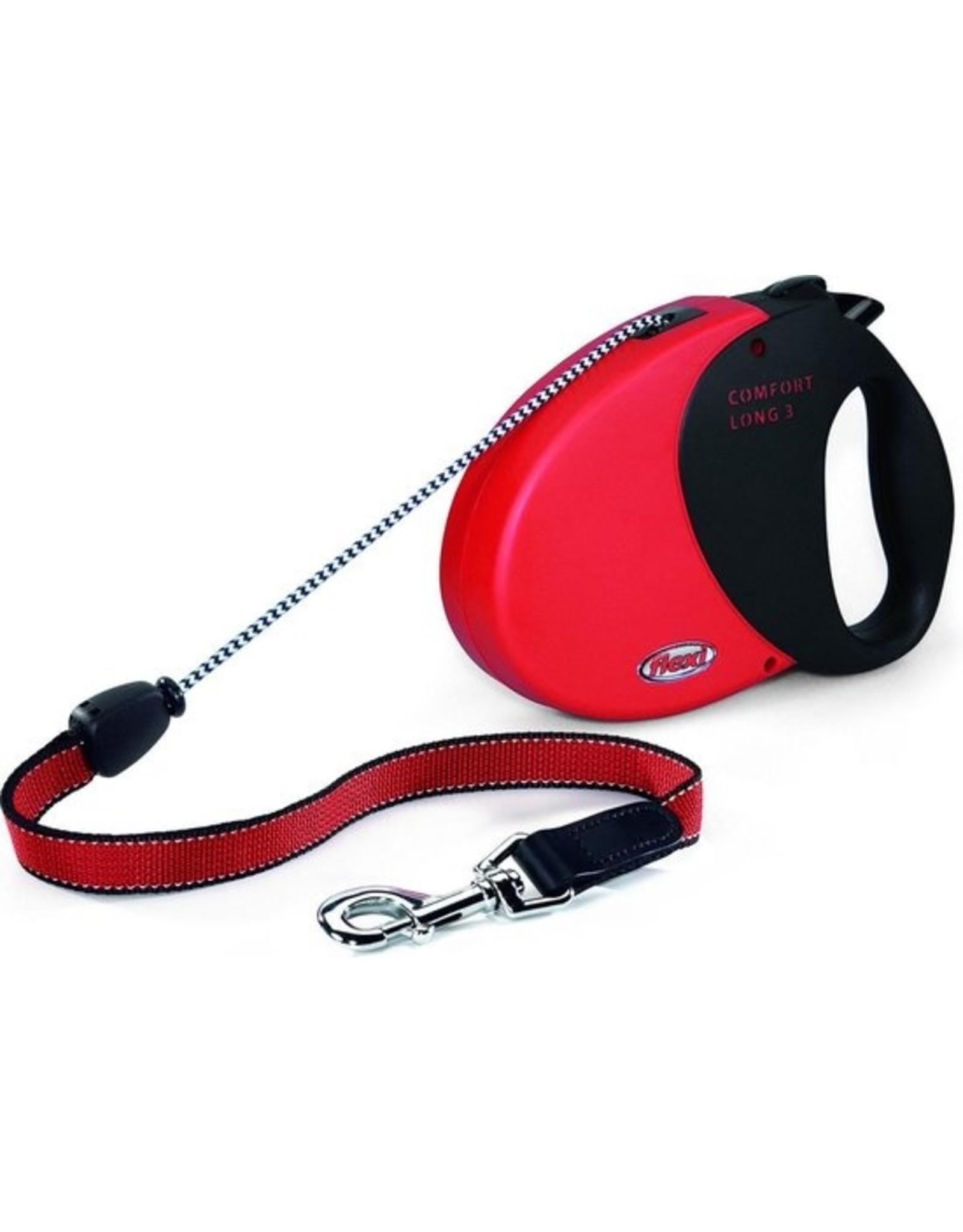 flexi Flexi Comfort Compact rood koord 5m reflect L