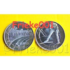 Finland 5 euro 2016 unc.(Skiën)