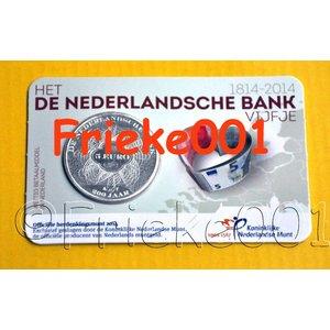 Nederland 5 euro 2014 200 jaar nederlandse bank