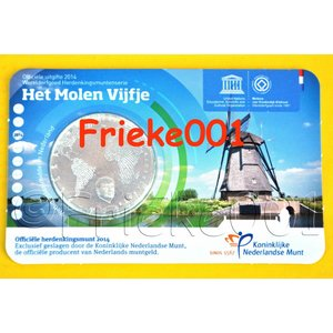 Pays-Bas 5 euro 2014 moulin fiver