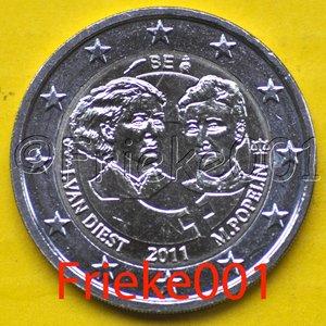 Belgique 2 euro 2011 comm
