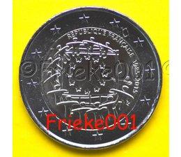 Frankrijk 2 euro 2015 comm.(30 jaar europese vlag)