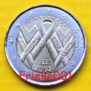 Frankrijk 2 euro 2014 comm.(Aids)