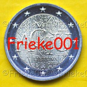 Lithuania 2 euro 2015 comm.(Lithuanian language)