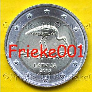 Latvia 2 euro 2015 comm.(Black Stork)