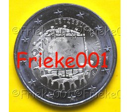 Luxembourg 2 euro 2015 comm.(30 years european flag)