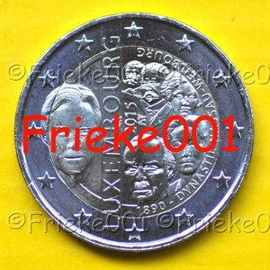 Luxembourg 2 euro 2015 comm.(125 ans dynastie)
