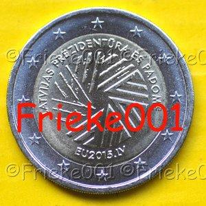 Letland 2 euro 2015 comm.(Voorzitterschap Europese Unie)