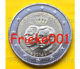 Luxembourg 2 euro 2014 comm.(50 years enthronement)