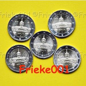 Duitsland 5x 2 euro 2018 comm.(Charlottenburg)