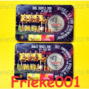 Belgium 2.50 euro 2018 in blister.(Red Devils)