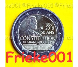Luxembourg 2 euro 2018 comm.(Constitution)